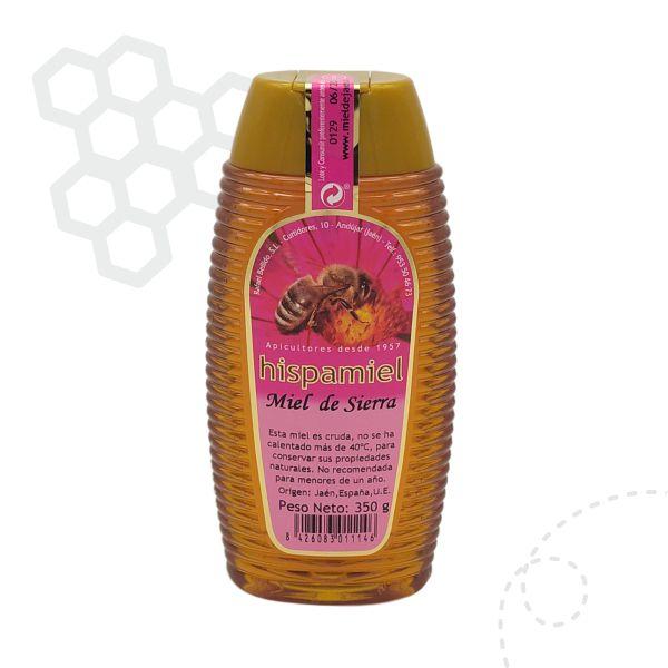 Tarro antigoteo de 350gramos de miel multifloral de sierra.