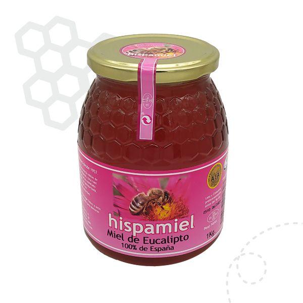 Tarro de 1 kilogramos de miel de eucalipto.
