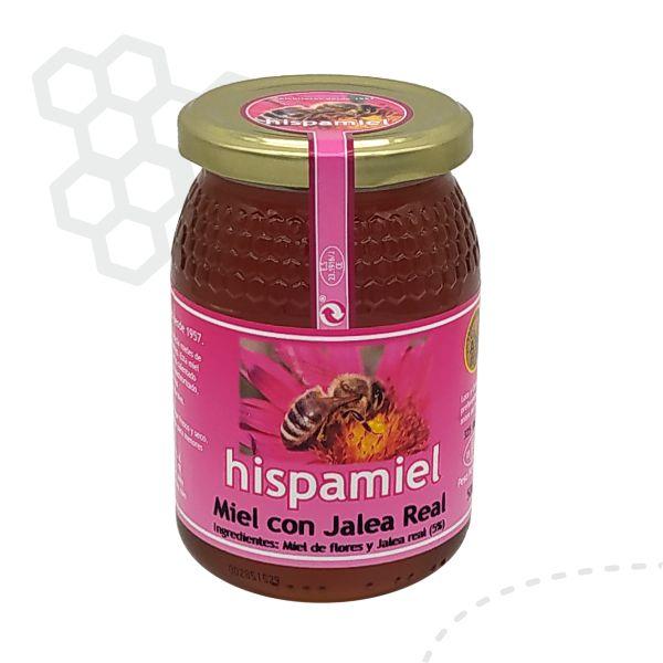 Tarro de 500 gramos de miel de mil flores con jalea real.
