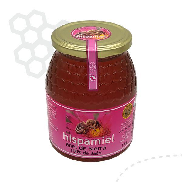 Tarro de 1 kilogramos de miel multifloral de sierra.